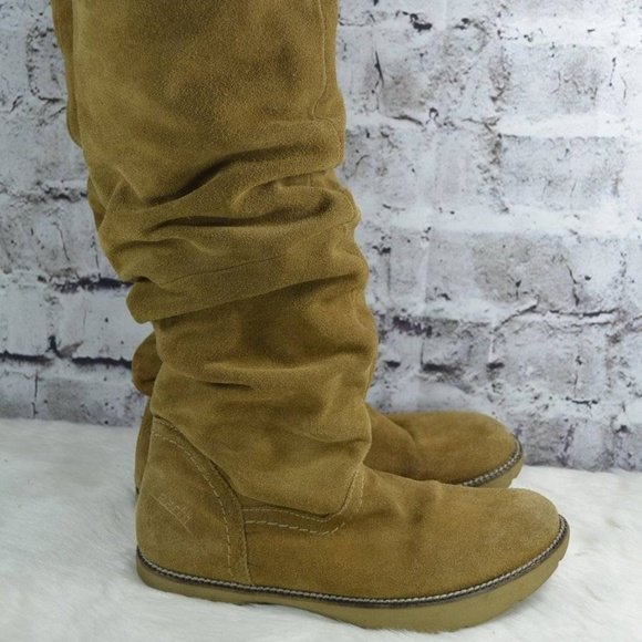 ed18c96c6ba Earth Shoes - Earth Swank Kalso Suede Slouch Boots 6.5B